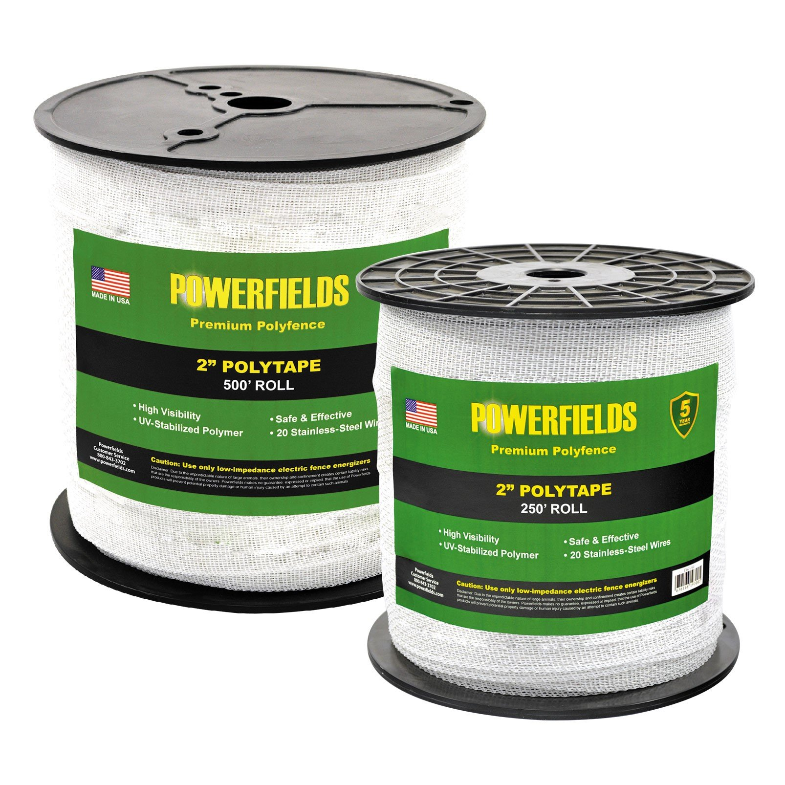 2 Polytape Powerfields High Quality Electric Fence Joining Fencing Wire Ew2 250 And 500 2016