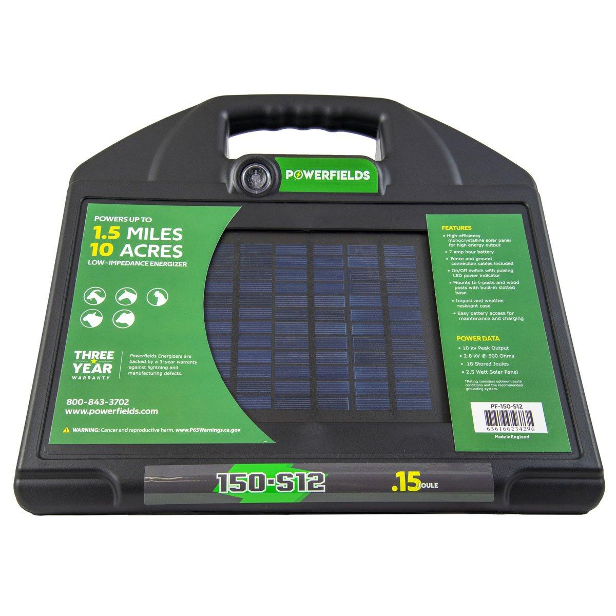 0 15 Joule Solar 12 Volt Dc Energizer Powerfields High